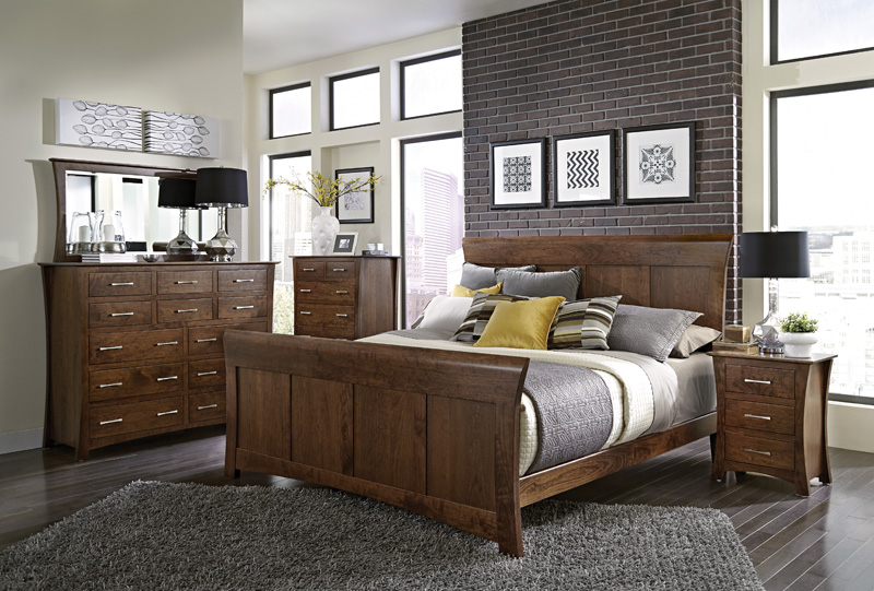 Loft Sleep Collection – Shown in Cherry-Bourbon. Available in Express and QuickShip
