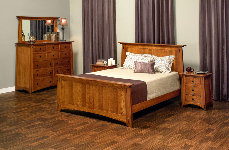 McCoy Sleep Collection – Shown in Quarter-Sawn White Oak-Michaels. Available in Express and QuickShip