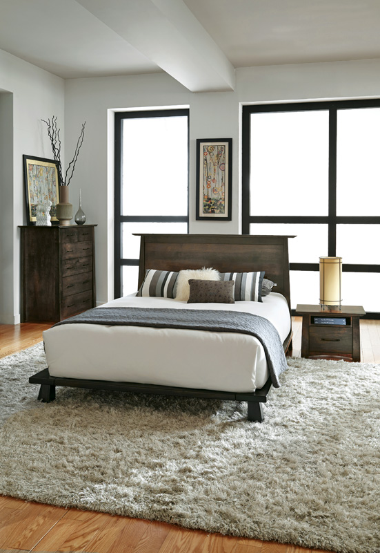 Naomi Sleep Collection – Shown in Soft Maple-Charcoal