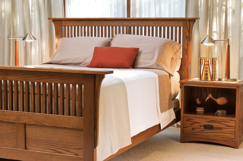 Prairie Mission Sleep Collection – Shown in Oak-Chestnut