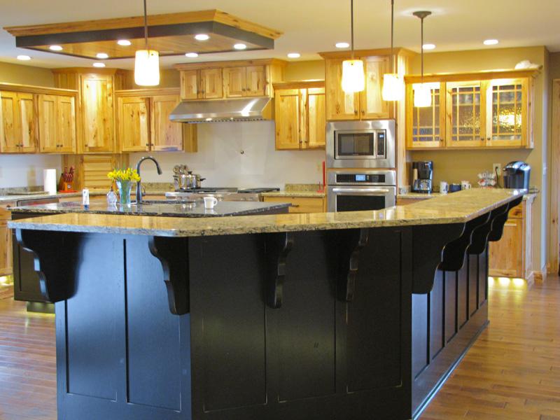 Black Island w/ Hickory Kitchen in background