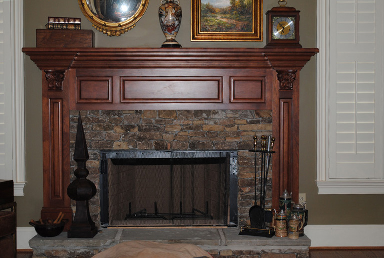 Cherry Fireplace Mantle