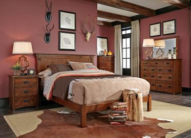 San Miguel Sleep Collection – Shown in Character Quarter-Sawn White Oak-Michaels. Available in Express and QuickShip