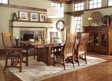 MaRyan Eat Collection – Shown in Quarter-Sawn White Oak-Bourbon