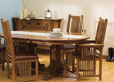 Prairie Mission Eat Collection – Shown in Quarter-Sawn White Oak-Michaels