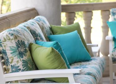 Classic Terrace White Frames & Violetta Baltic Cushions Lifestyle
