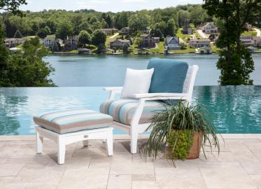 Classic Terrace Club Chair by pool