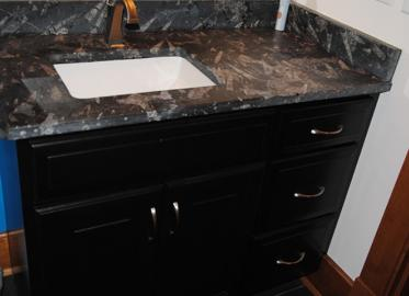 Vanity Dark Birch stain