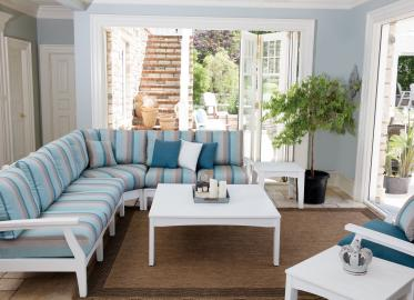 Classic Terrace White Sectional