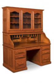Classic Rolltop Desk with Hutch Top
