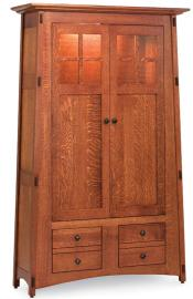 McCoy Bookcase with Wood Doors