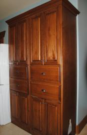 Mud Room stained Maple