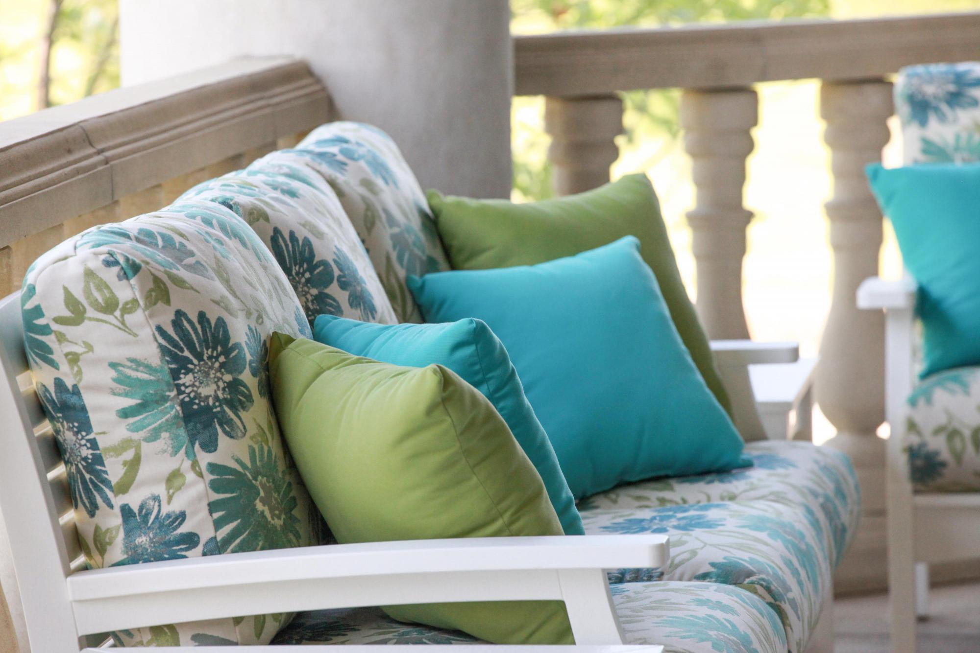Classic Terrace White Frames & Violetta Baltic Cushions Lifestyle