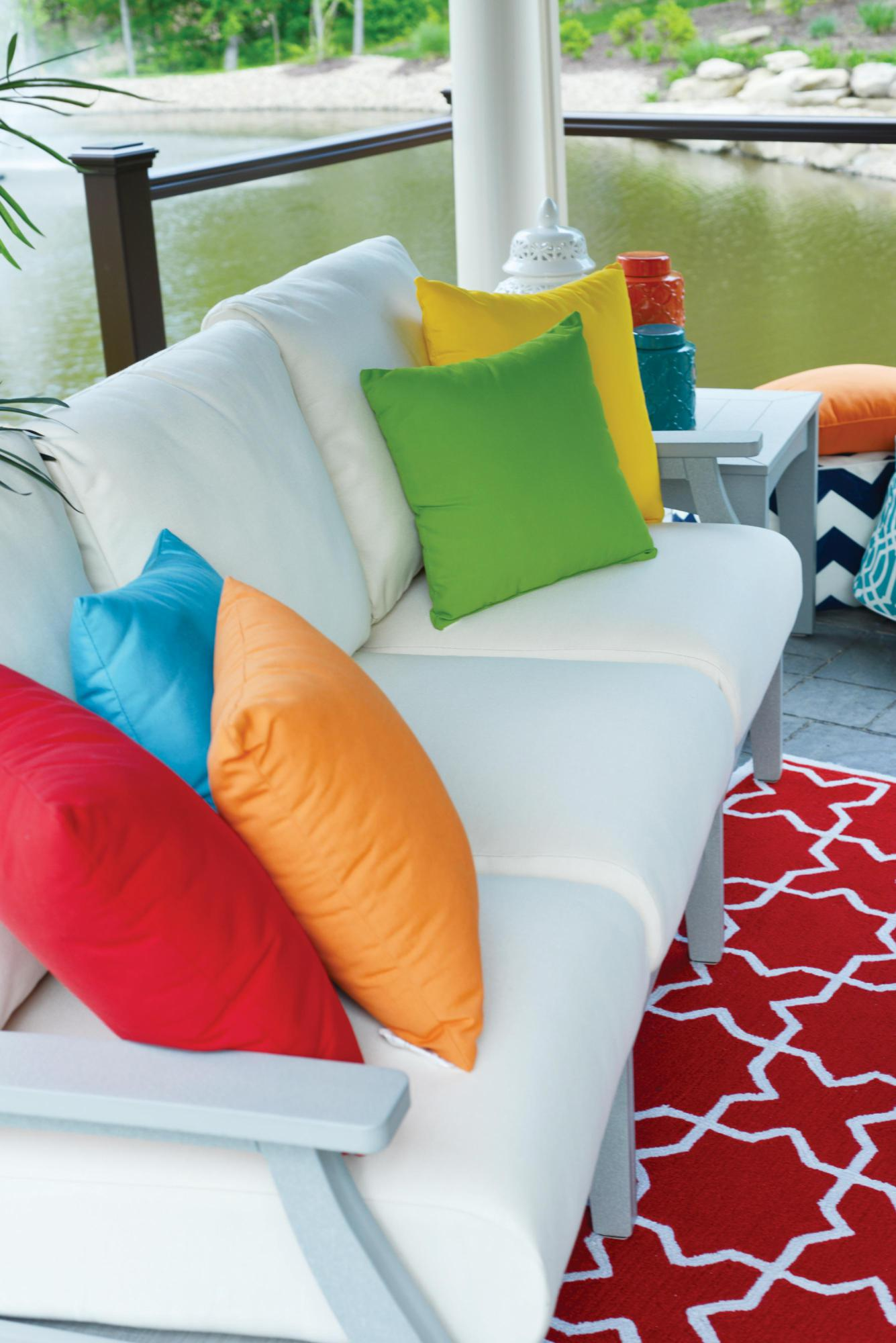 Classic Terrace Light Gray Frames & Sailcloth Shell Cushions Lifestyle