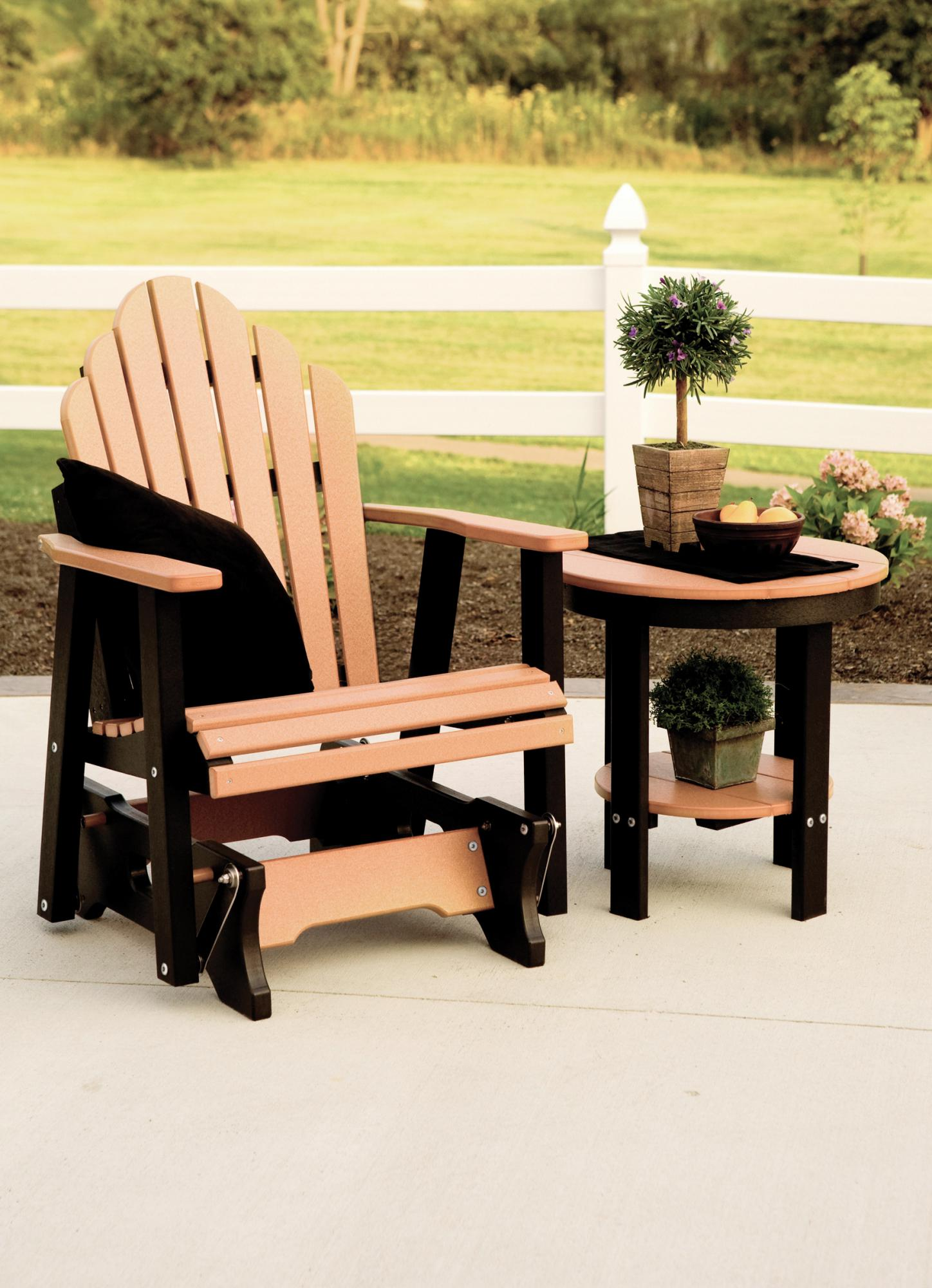 Cozi Back Single Glider Cedar On Black