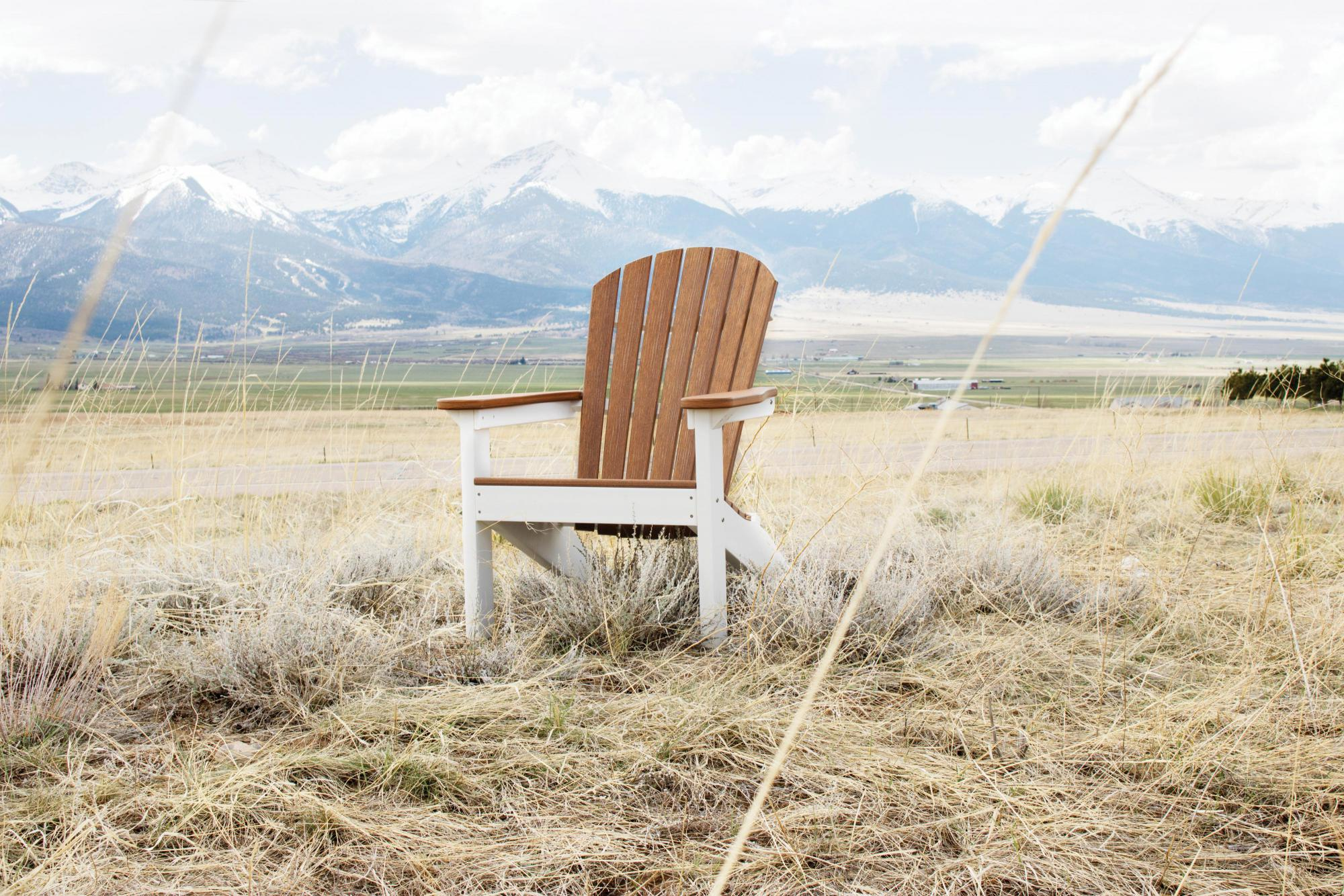 Adirondack chair out in country