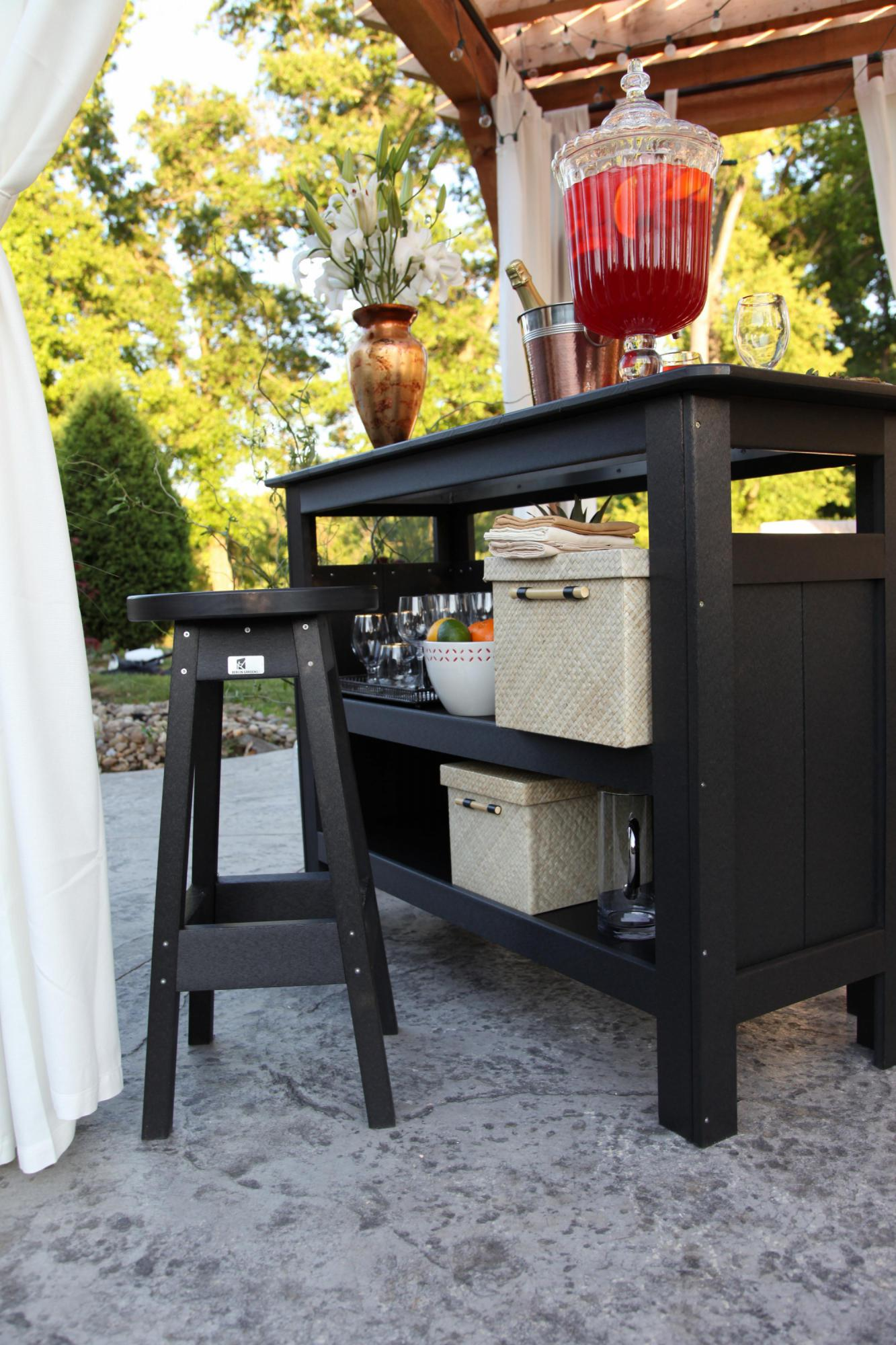 Black outdoor bar