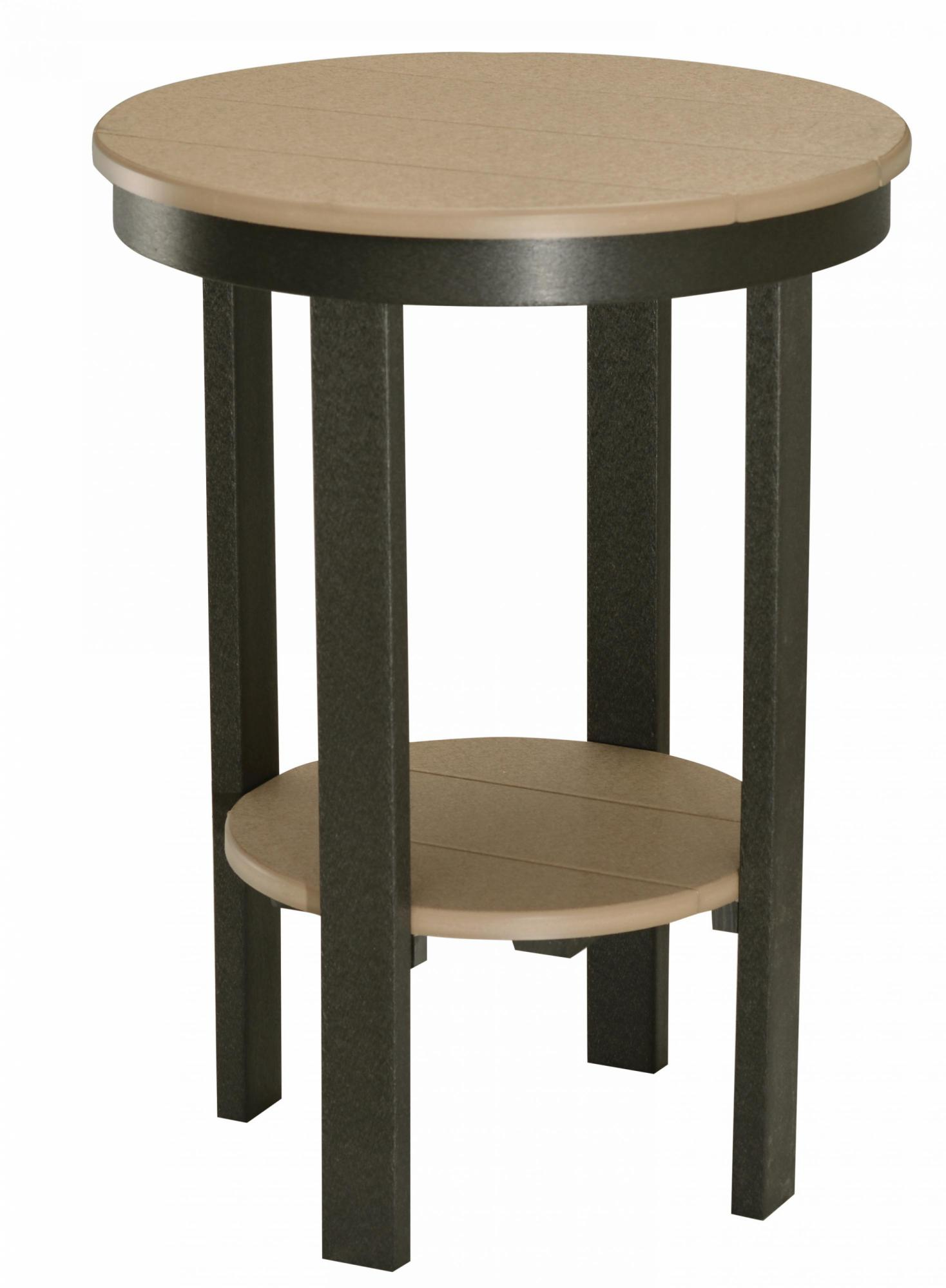 Round End Table (Bar Height)