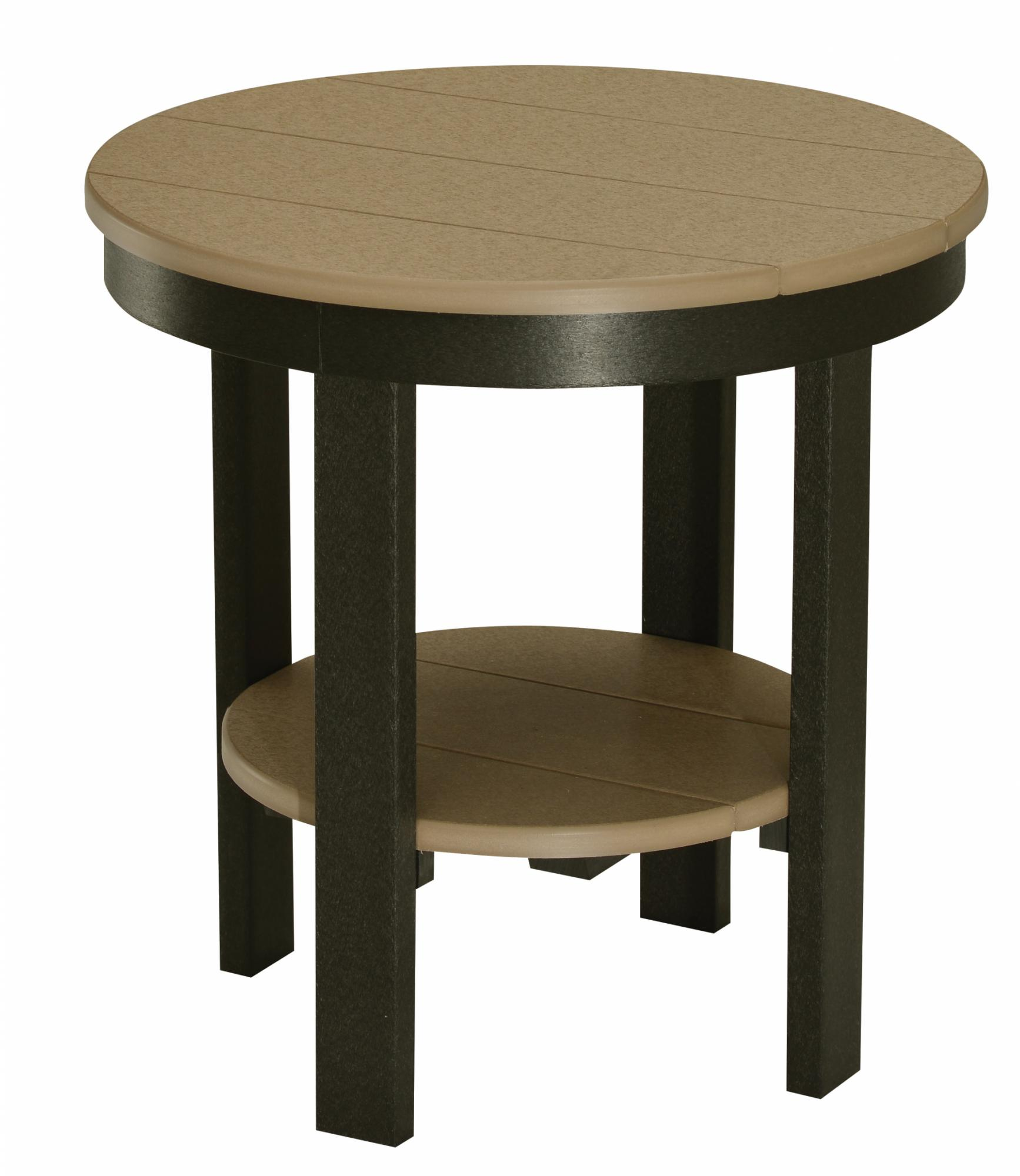 Round End Table (Regular Height)