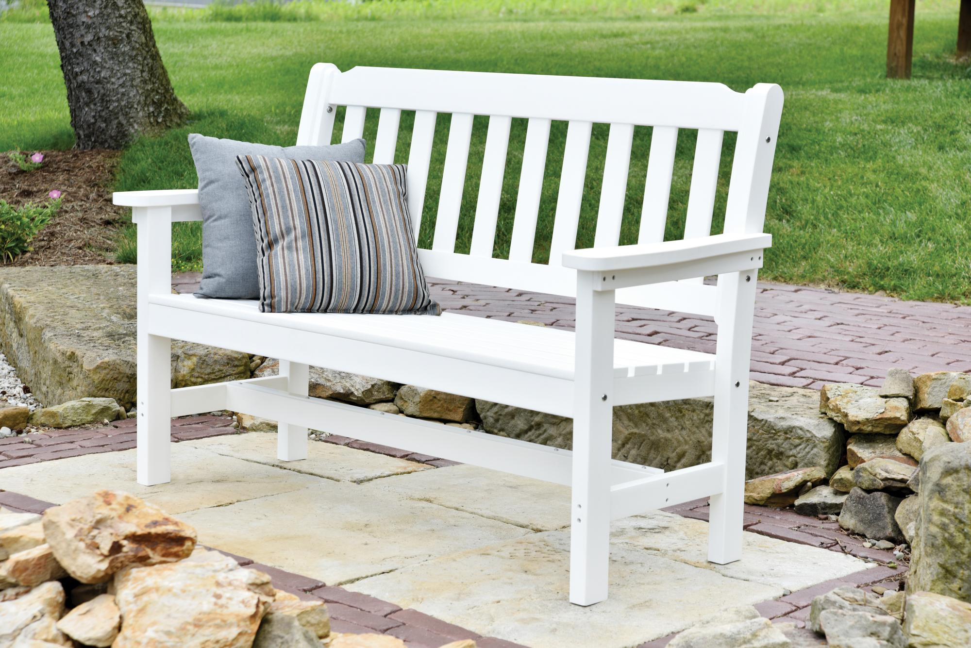 white bench wh outdoor garden bronze benchs itm hg backyard inch porch seat park